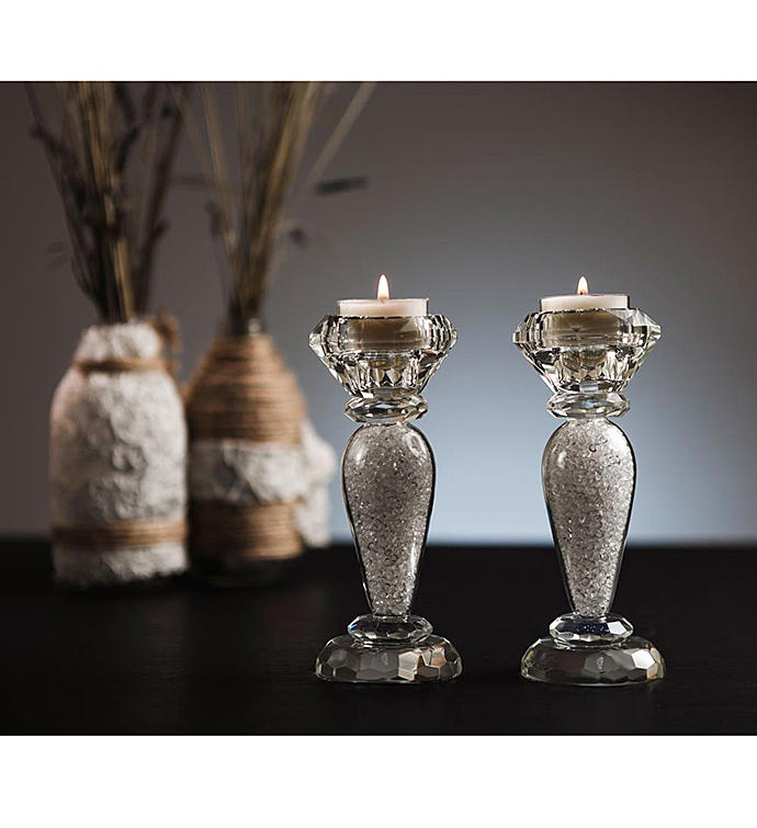 Crystal Candlestick (2-Piece Set)