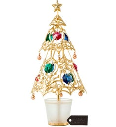 Gold Plated Christmas Tree Table Top Ornament