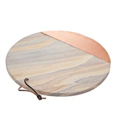Rainbow Sandstone / Copper Round Tray