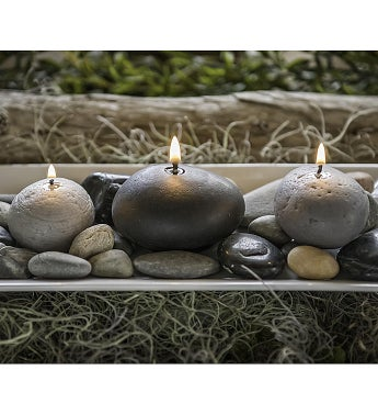 Rock Beeswax Candles