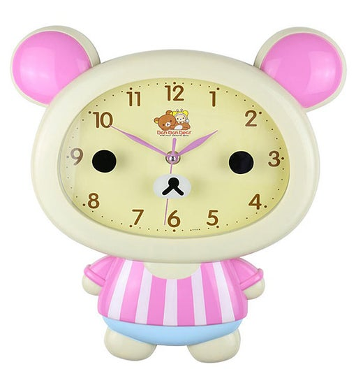 Beige Bear Clock
