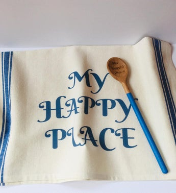 Kitchen Towel and Wooden Spoon Set