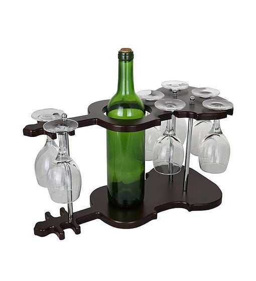 Guitar Wine Bottle & Glass Holder