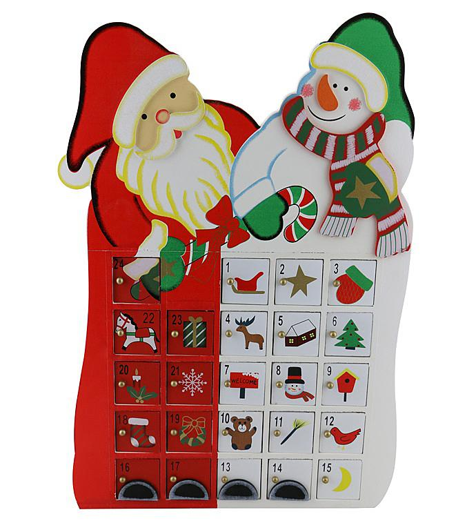 Santa and Snowman Advent Calendar
