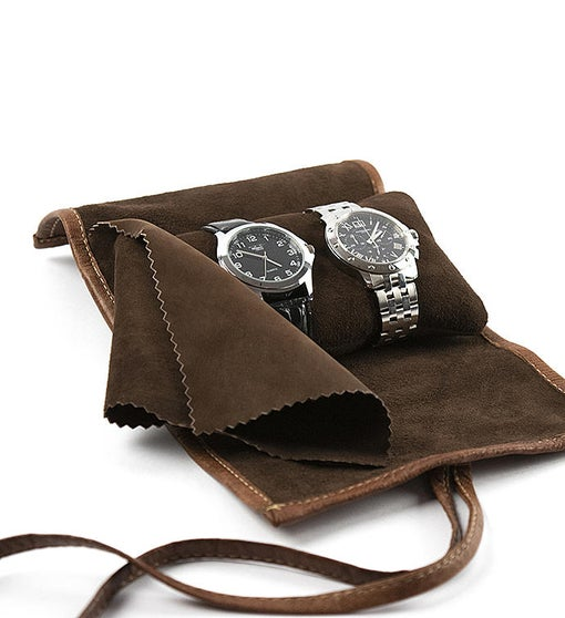 Leather Watch Case - Cognac