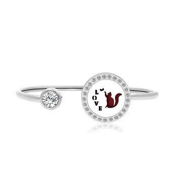 Kitty Love Essential Oil Twistable Cuff Bangle