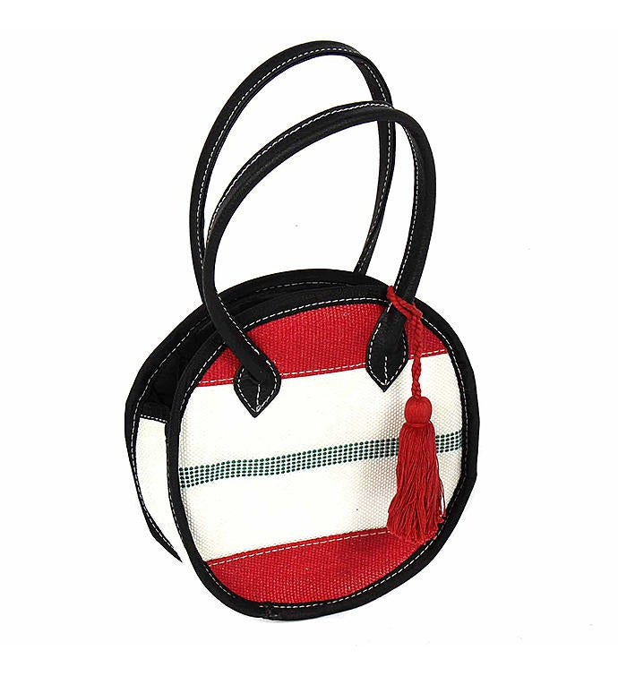 Recycled Fire Hose Small Round Handbag