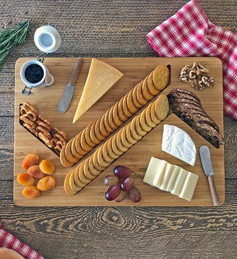 """ZigZag"" Cheese And Crackers Board"
