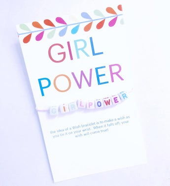 Girl Power Wish Bracelet