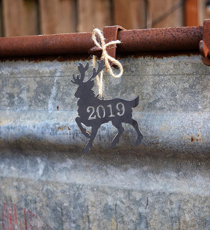 2019 Metal Reindeer Ornament