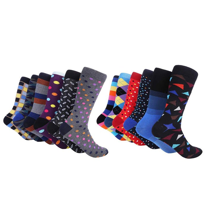 Marino Colorful Funky Socks For Men - Cool Collection