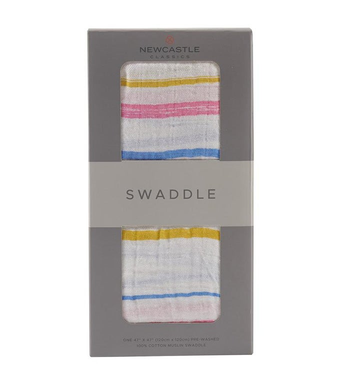 Cotton Muslin Swaddle - Stripes