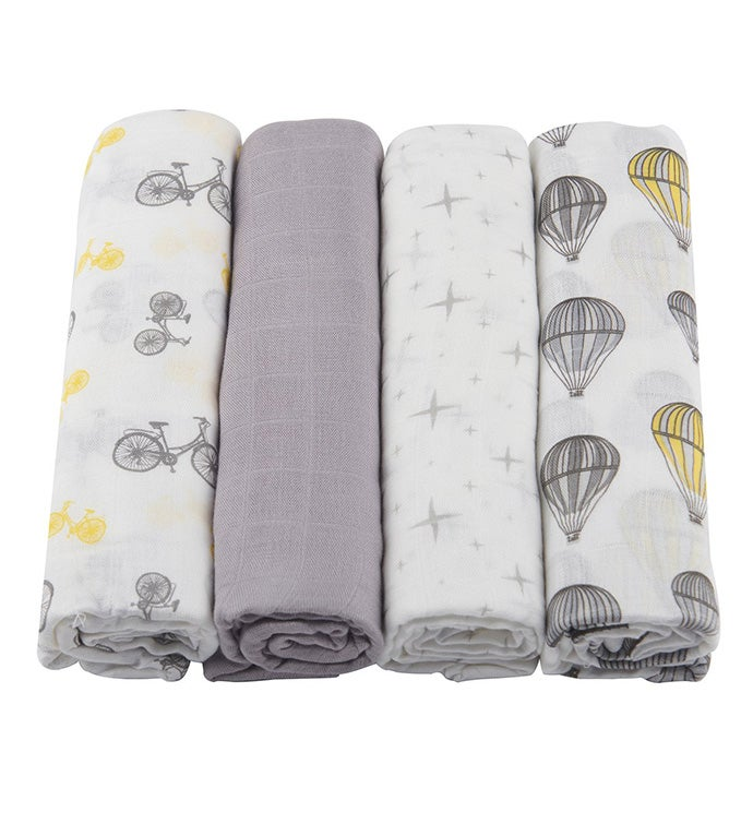 Bamboo Muslin Swaddle Four Pack