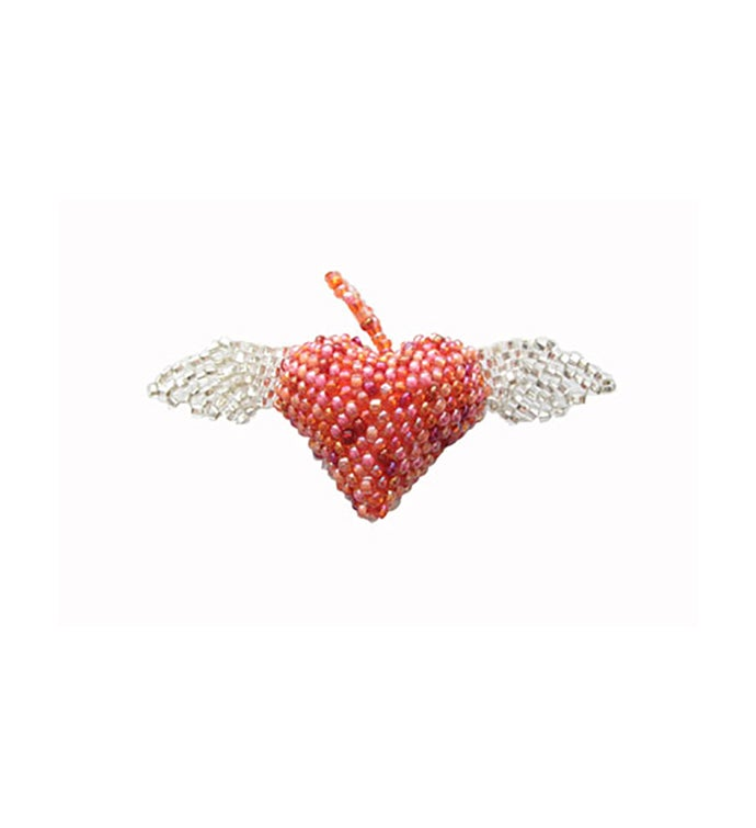 Beaded Heart w/Wings