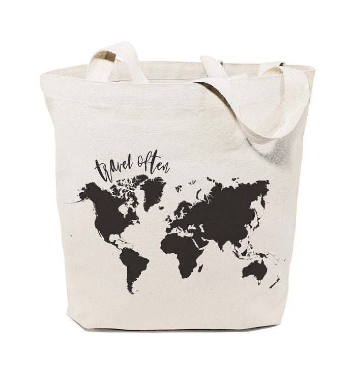 Travel Lover39s Reusable Shoulder Tote