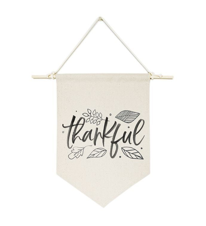 Grateful Thankful Blessed Canvas Wall Hang
