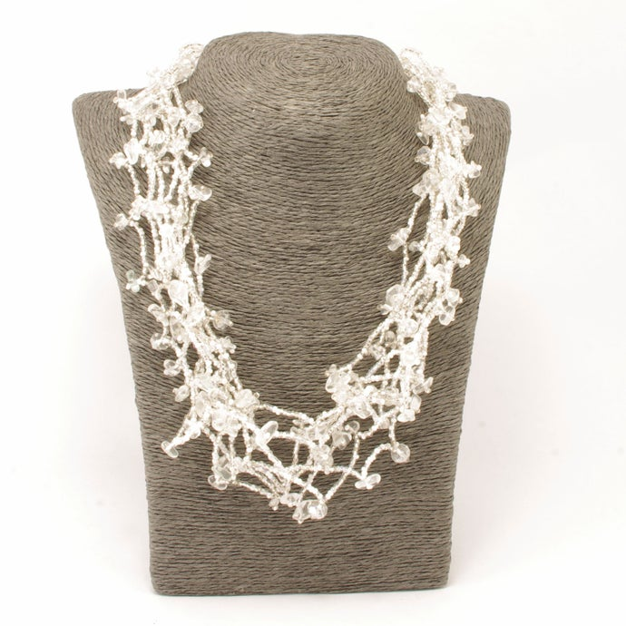 Handmade Multi-strand Chunky Stone Necklace