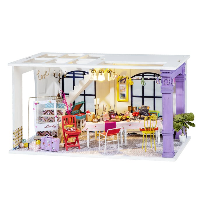 DIY 3D Wooden Dollhouse Puzzle