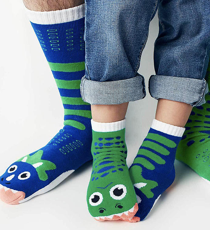 T-Rex  Triceratops  Adult  Kid Socks