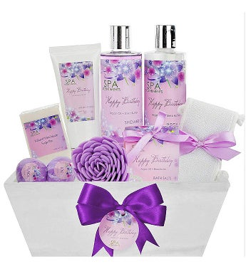 Birthday Gift Basket Spa Kit - Spa Basket Bath & Body