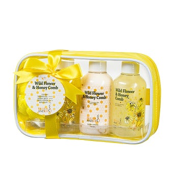 Wild Flower & Honeycomb Fragrance Travel Spa Set