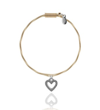Strung Guitar String Bracelet - Heart 34Whole Lotta Love34