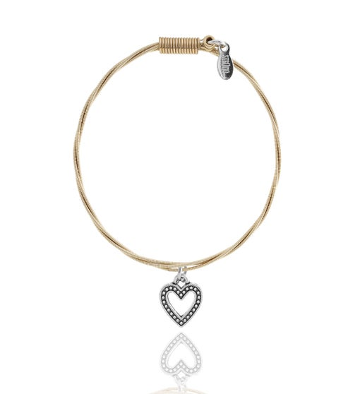 "Strung Guitar String Bracelet - Heart ""Whole Lotta Love"""