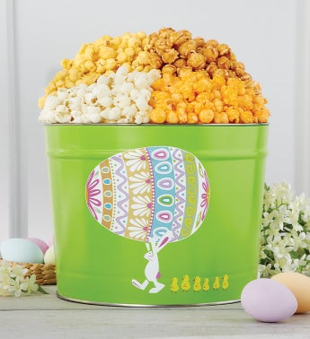 Easter Egg Parade 2 Gallon Popcorn Tin