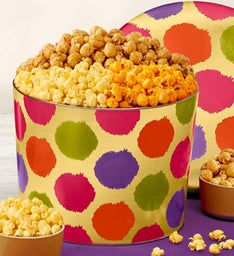 Celebration Dots 2 Gallon Popcorn Tin