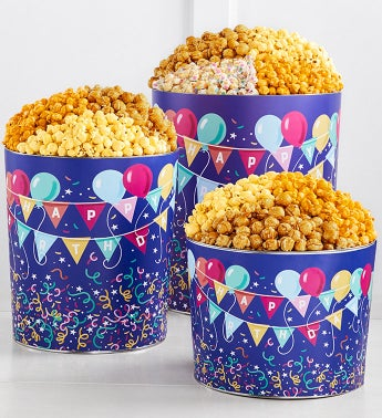 Birthday Balloon Popcorn Tins
