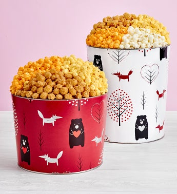 Beary In Love Popcorn Tins