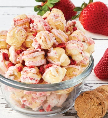 Strawberry Champagne Popcorn