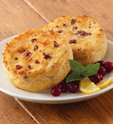 Cranberry Citrus Super-Thick English Muffins