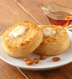 Maple Almond Super-Thick English Muffins