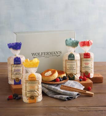Create-Your-Own Signature English Muffins Gift Box with Tongs - 4 Packages