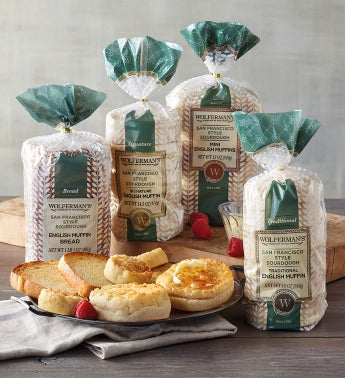 San Francisco-Style Sourdough English Muffin Variety Assortment