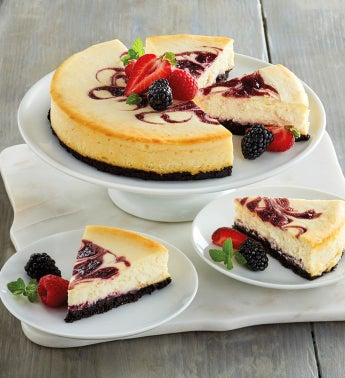 Triple Berry Chocolate Cheesecake